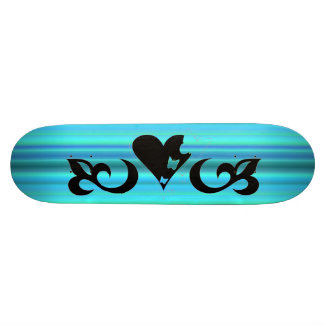 Butterfy Lily and Heart Skateboard