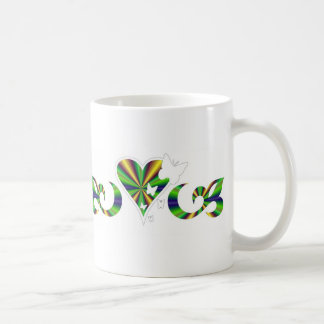 Butterfy on rainbow Lily and Heart Coffee Mug