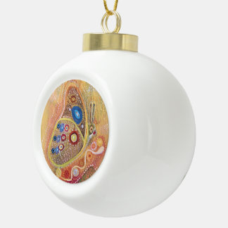 Butterfy painting Ceramic Ball Decoration Ceramic Ball Christmas Ornament