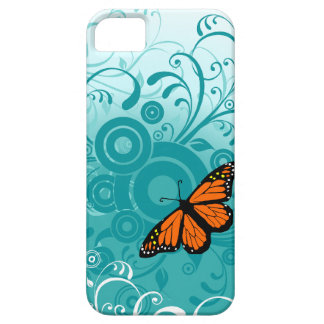 Butterfy y remolinos funda para iPhone 5 barely there