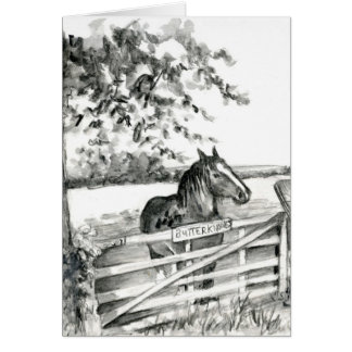 """""""Butterknowes Mare"""" Card"""