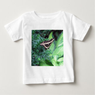 Butterly Black Swallowtail on Hosta Baby T-Shirt