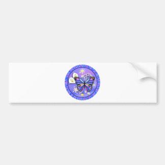 Butterly & Calle Lily - Purple Bumper Sticker