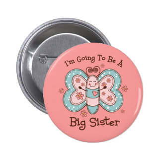 Butterly Future Big Sis Pinback Button