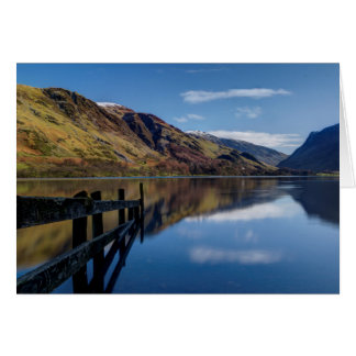 Buttermere Lake in the English Lake District Card