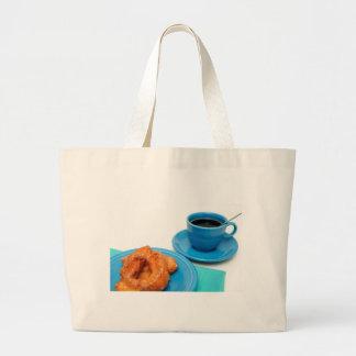 Buttermilk Donut Large Tote Bag