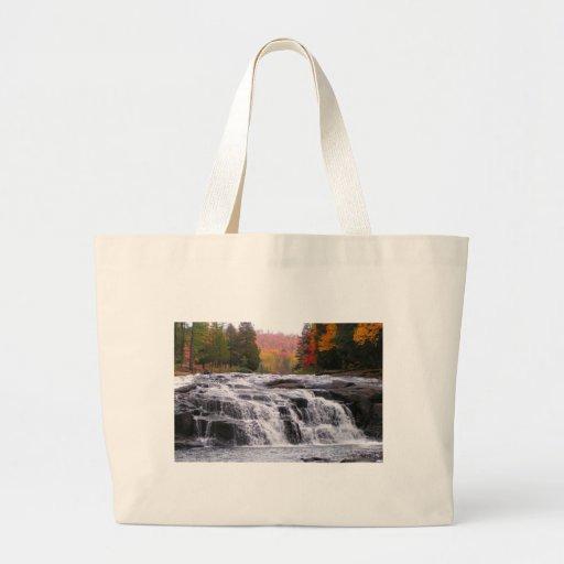 buttermilk falls adirondacks canvas bag