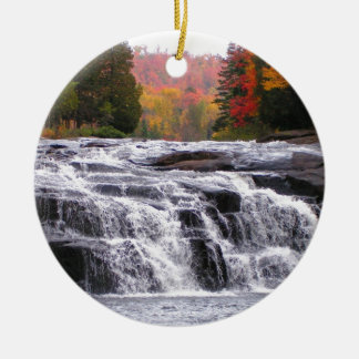 buttermilk falls adirondacks Double-Sided ceramic round christmas ornament