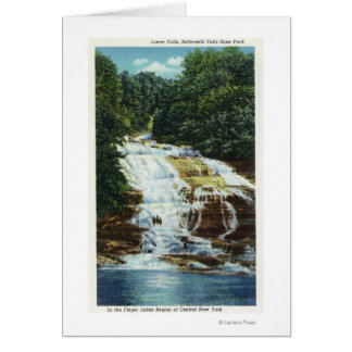 Buttermilk Farms State Park Lower Falls View Card