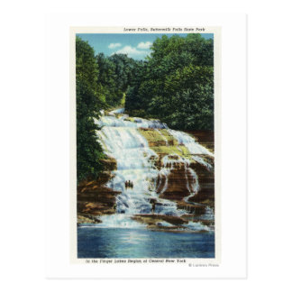 Buttermilk Farms State Park Lower Falls View Postcard