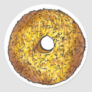 Butternut Crunch Donut Classic Round Sticker