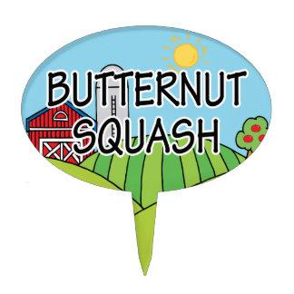 Butternut Squash Farm Garden Marker Cake Topper