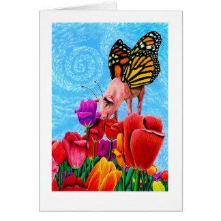 ¡Butterpig! Tarjeta De Felicitación