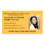 BUTTER'S COOKING Double-Sided STANDARD BUSINESS CARDS (Pack OF 100)