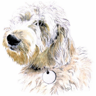 Butters the Labradoodle Sculpture Standing Photo Sculpture