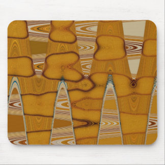 butterscotch abstract design mouse pad