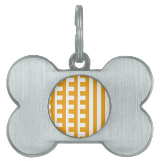 Butterscotch and White Combs Tooth Pet Name Tag