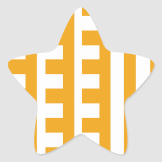 Butterscotch and White Combs Tooth Star Sticker
