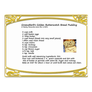 Butterscotch Bread Pudding Recipe Postcard