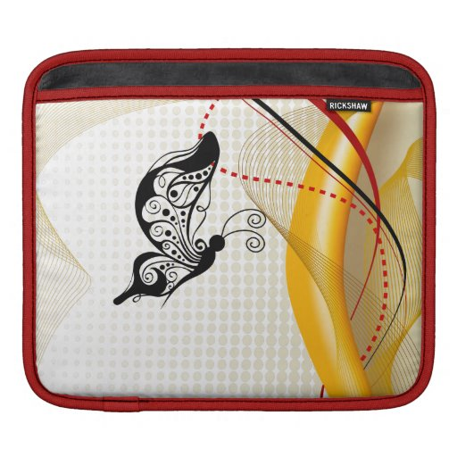 Butterscotch Butterfly Abstract  Rickshaw Sleeve Sleeve For iPads