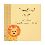 Butterscotch Lion Baby Canvas Print