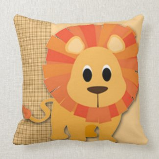 Butterscotch Lion Baby Keepsake Pillow