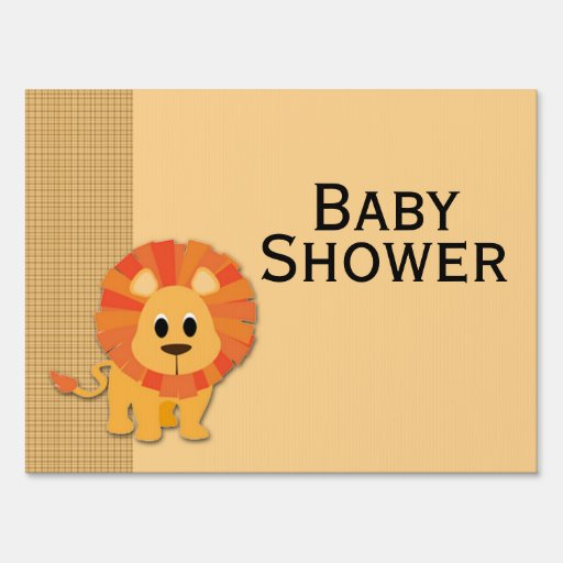 butterscotch lion baby shower yard sign zazzle