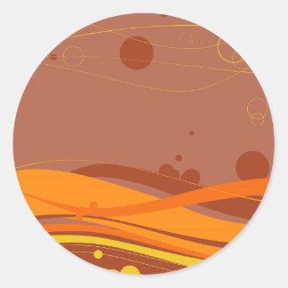 Butterscotch Waves Sticker