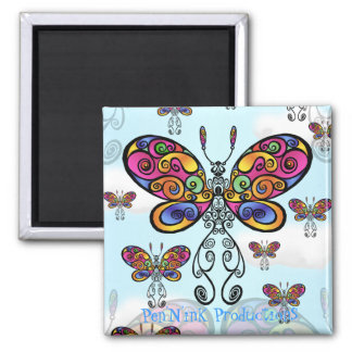 ButterSky 2 Inch Square Magnet