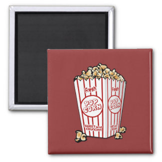 Buttery Popcorn Movie Fan 2 Inch Square Magnet