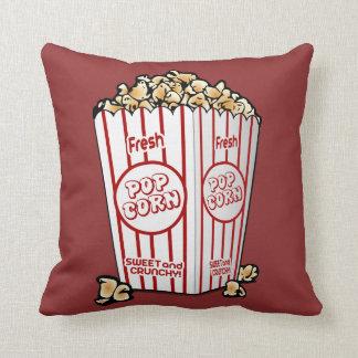 Buttery Popcorn Movie Fan Throw Pillow