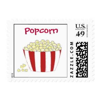 Buttery Popcorn Postage Stamp
