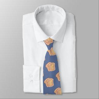 Buttery Toast Graphic - Fun Breakfast Theme Custom Neck Tie