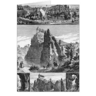 Buttes-Chaumont park, New Paris Greeting Card
