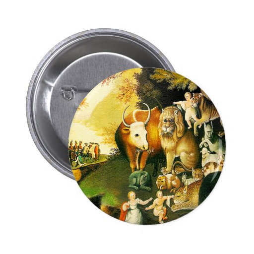 Buttion: The Peaceable Kingdom Button