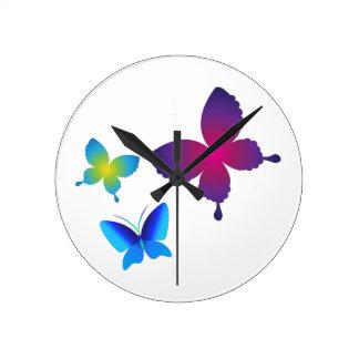 Buttlerflies colorido reloj