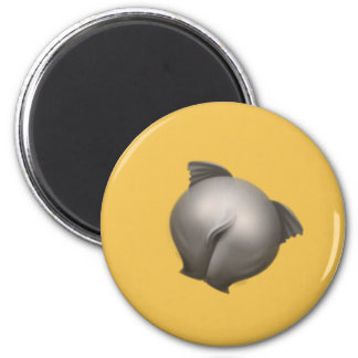 buttocks elephant 2 inch round magnet