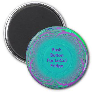 Button2, refrigerador local imán redondo 5 cm