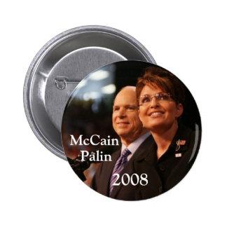 button6, McCain, Palin, 2008 - modificado para req Pin Redondo De 2 Pulgadas