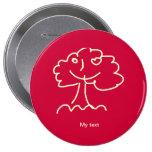 Button 10,2cm (round) pins