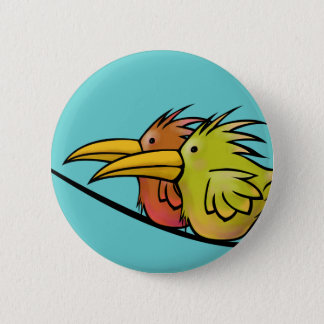 Button, 2 Birds on a Wire Pinback Button