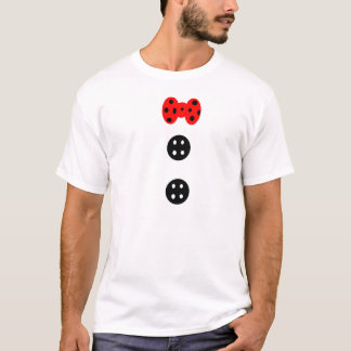 Button and bow T-Shirt