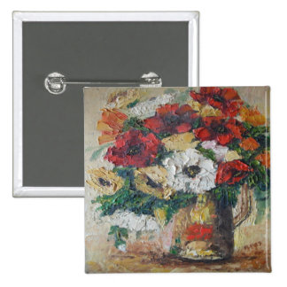 Button Ann Hayes Painting Flower Mix Delight