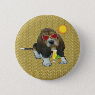 Button Baby Basset Hound Sheldon Summer Time