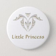 Button Badge - Little Princess at Zazzle