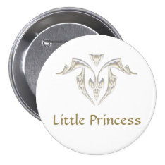 Button Badge - Little Princess at Zazzle