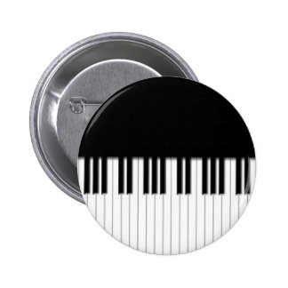 Button Badge - Piano Keyboard black white