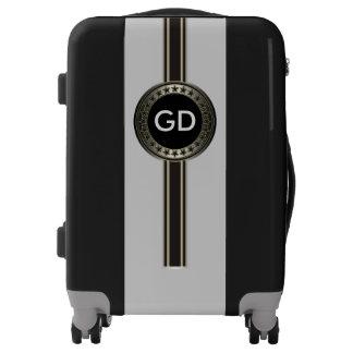 Button / Banner - Stars black + monogram Luggage