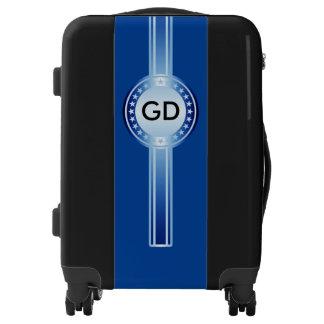 Button / Banner - Stars blue + monogram Luggage