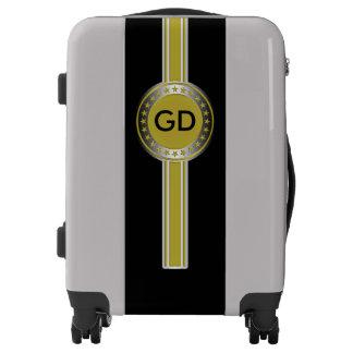 Button / Banner - Stars gold silver + monogram Luggage